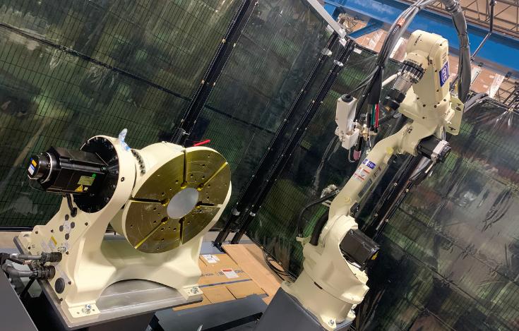 OTC DAIHEN Tilt-Turn Positioner providing rotation and tilt when used with an OTC DAIHEN robotic welder