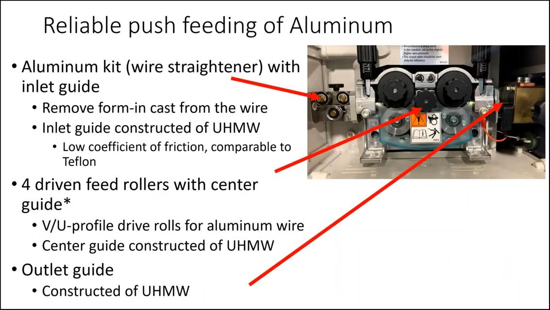 Reliable push feeding of aluminium using OTC DAIHEN aluminum kit
