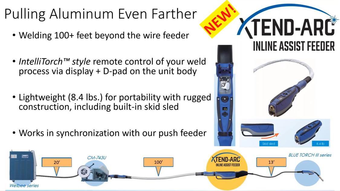 Pulling aluminum even farther with OTC DAIHEN XTEND-ARC Inline Assist Feeder