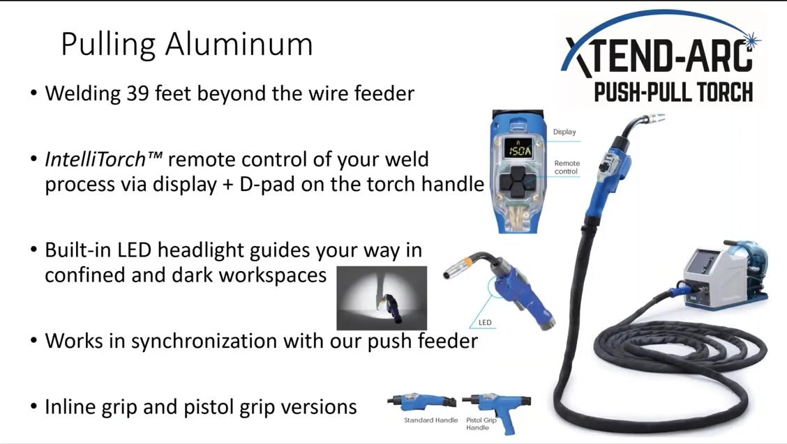 Pulling aluminum with OTC DAIHEN XTEND-ARC Push-Pull Torch